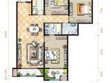 坤杰拉菲公馆_3室2厅2卫 建面158平米