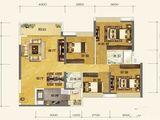 恒大金阳新世界_4室2厅2卫 建面135平米