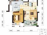 现代美居_1室2厅1卫 建面63平米