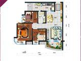 碧桂园太阳城_3室2厅1卫 建面91平米