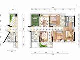 佳兆业东江新城_3室2厅2卫 建面117平米