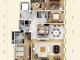 万国城moma_3室2厅3卫 建面269平米