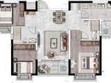 恒大悦珑台_3室2厅2卫 建面100平米
